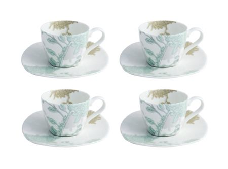 Aynsley Cambridge 4 teacups & saucer set