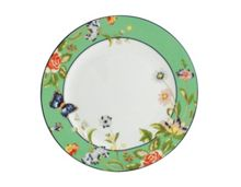 Cottage garden plates (4) green
