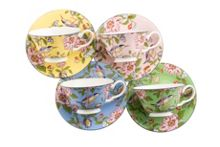 Aynsley Pembroke windsor teacups and saucers (set of 4)