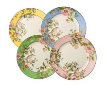 Aynsley Pembroke mixed plates set of 4