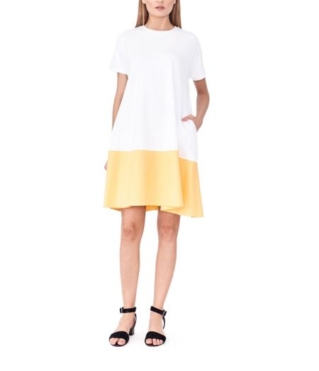 MAIOCCI Collection Block Colored Baby Doll Dress
