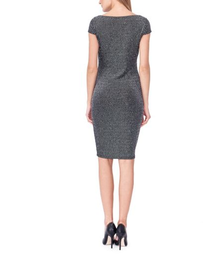 MAIOCCI Collection Form Fitting Metallic Dress
