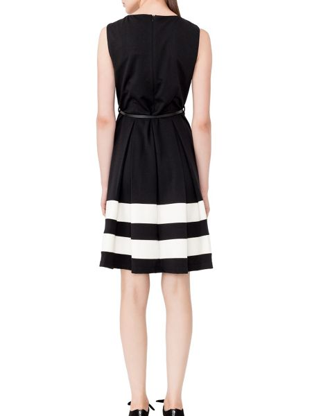 MAIOCCI Collection Fit and Flare Dress With Belt