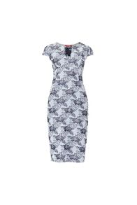 MAIOCCI Collection Floral V-neck Dress