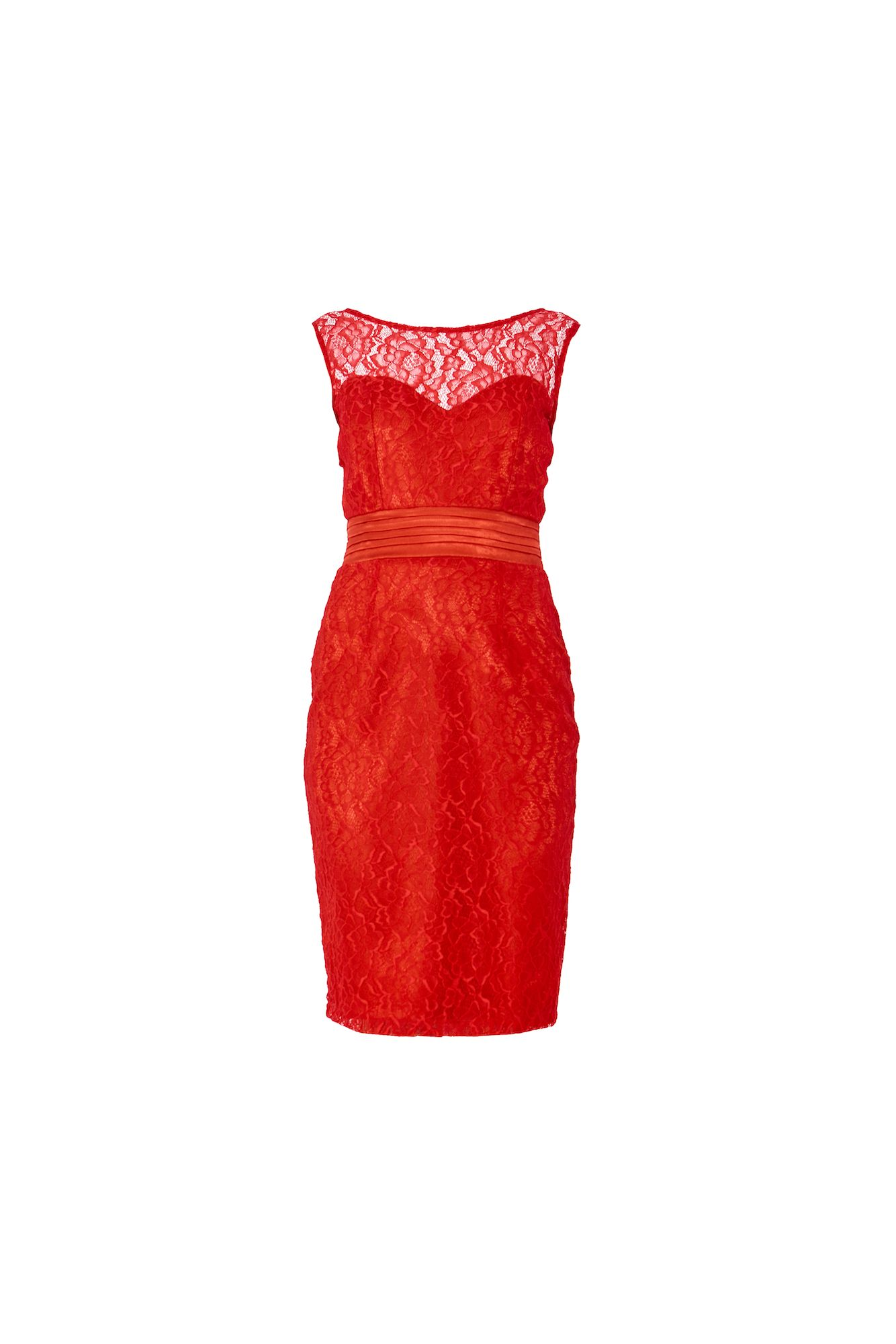 MAIOCCI Collection MAIOCCI Collection Lace Evening Dress, Red