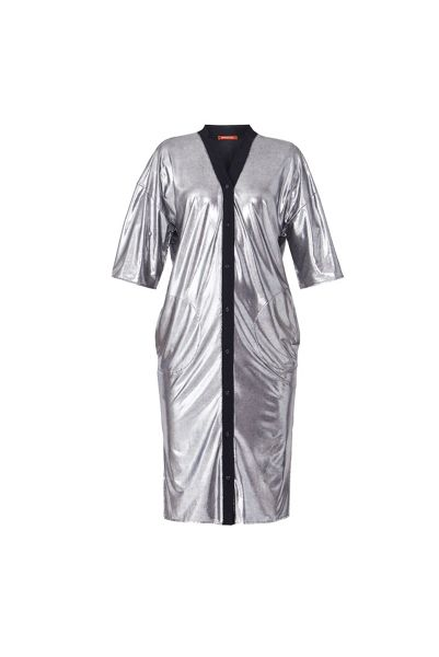 MAIOCCI Collection Metallic Shirt Dress