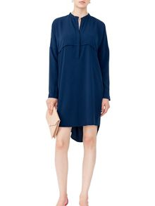 MAIOCCI Collection Grandad Neck Shirt Dress