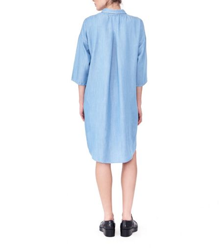 MAIOCCI Collection Button up Denim Shirt Dress
