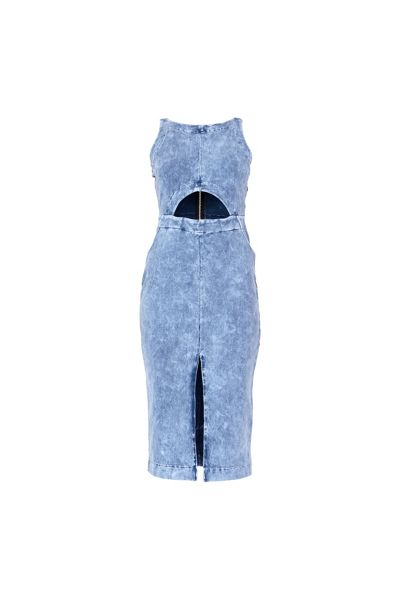 MAIOCCI Collection Denim Cut Out Dress