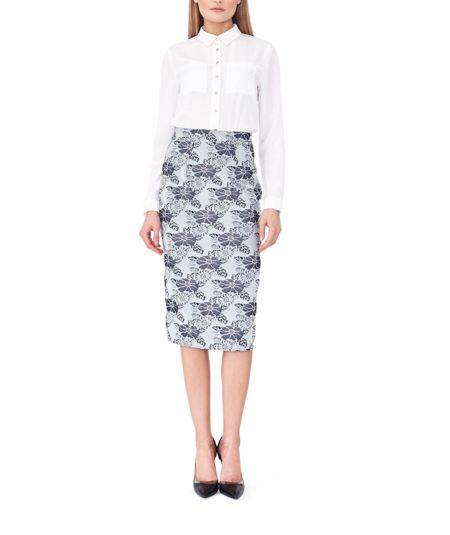 MAIOCCI Collection Form Fitting Floral Skirt