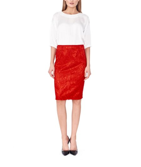 MAIOCCI Collection Form Fitting Lace Skirt