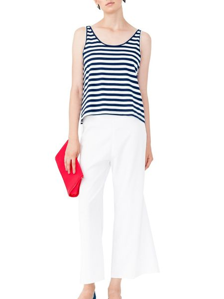 MAIOCCI Collection Scoop Neck Stripe Top