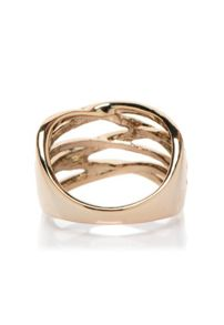 MAIOCCI Collection Dark gold woven ring