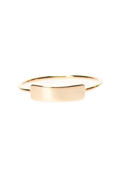 MAIOCCI Collection Gold plaque ring