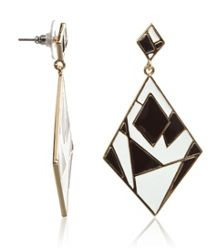 MAIOCCI Collection Black and white geometric earrings