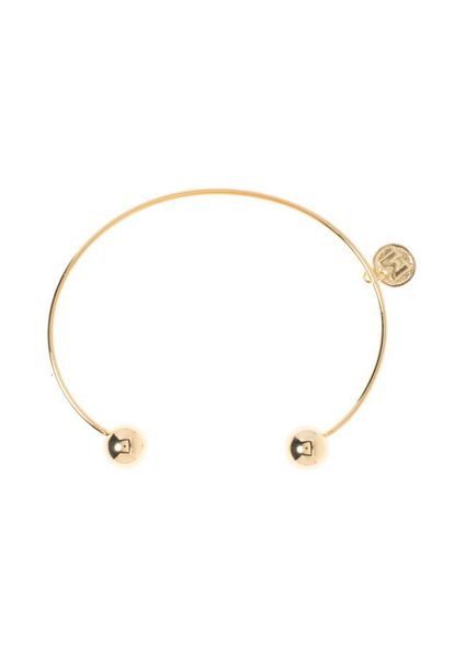 MAIOCCI Collection Gold colored ball bangle