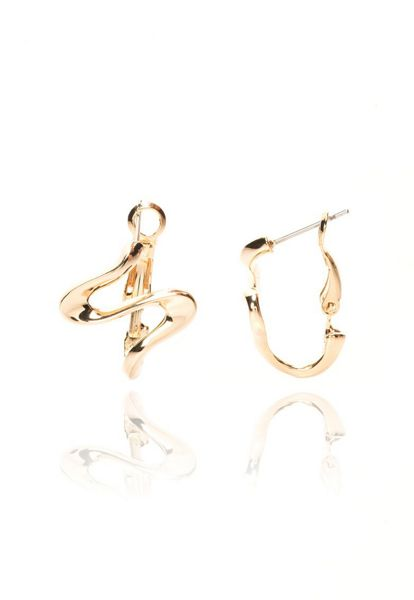 MAIOCCI Collection Gold doodle earrings