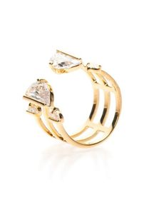 MAIOCCI Collection Gold tri-line ring
