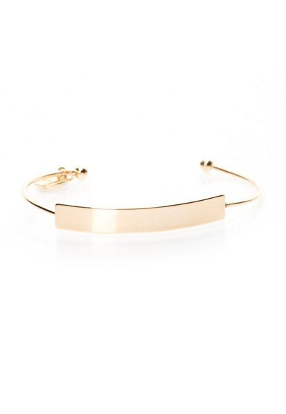 MAIOCCI Collection Gold plaque bangle