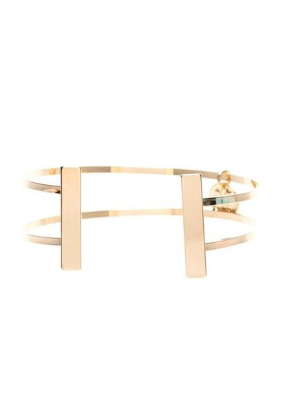MAIOCCI Collection Gold symmetrical line bangle