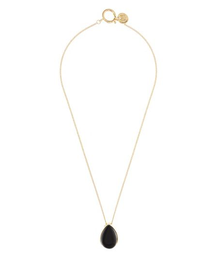 MAIOCCI Collection Black and gold rain drop necklace