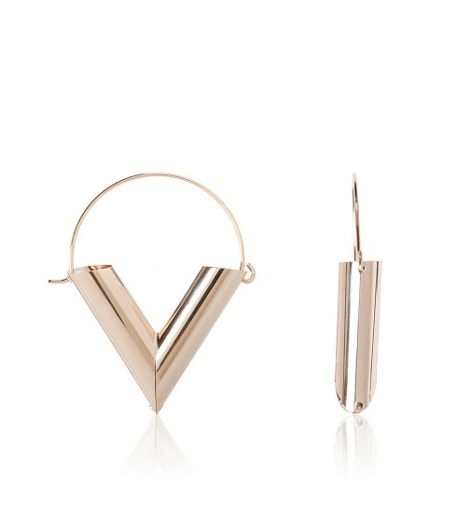 MAIOCCI Collection Gold v earrings