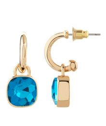 MAIOCCI Collection Gold, blue ocean earrings