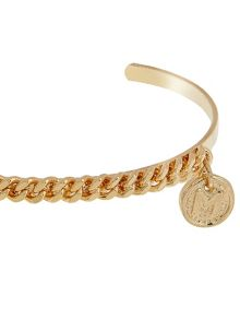 MAIOCCI Collection Gold chained bangle