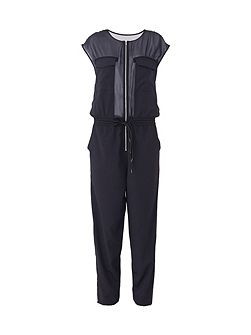 Slouchy Zipper Jumpsuit