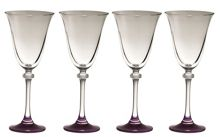 Galway Liberty amethyst goblets (set of 4)