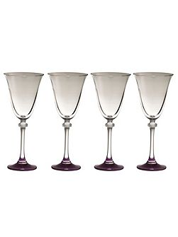 Liberty amethyst goblets (set of 4)