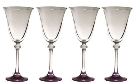 Galway Liberty amethyst goblets set of 4