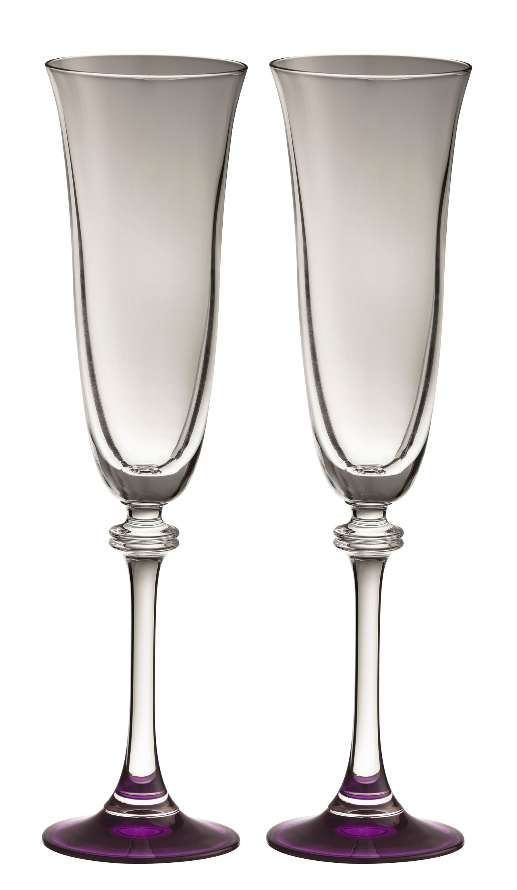 Image of Galway Liberty amethyst flutes (set of 2)