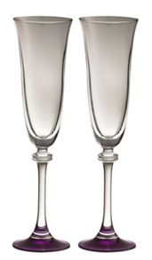 Galway Liberty amethyst flutes (set of 2)