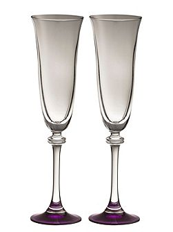 Liberty amethyst flutes (set of 2)