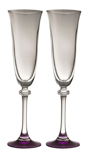 Galway Liberty amethyst flutes set of 2
