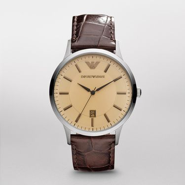 AR2427 Classic Brown Leather Mens Watch
