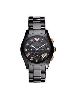 Emporio Armani AR1410 Ceramic Black Mens Bracelet Watch