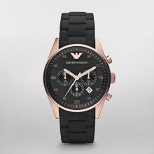 AR5905 Sport Men`s Black Silicone Bracelet Watch