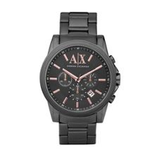 AX2086 Smart black stainless steel mens watch