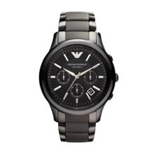 Emporio Armani AR1452 Ceramic Gunmetal Mens Bracelet Watch