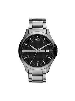 AX2103 Smart silver stainless steel mens watch