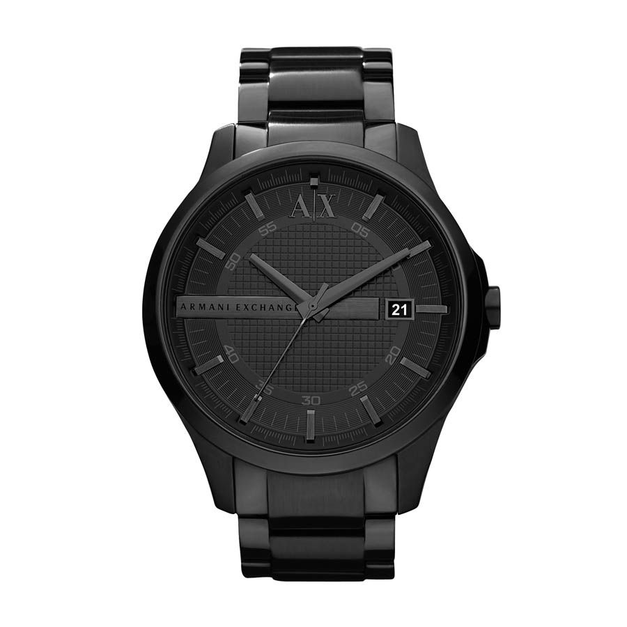 AX2104 Smart black stainless steel mens watch