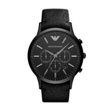 AR2461 Classic Black Leather Mens Watch