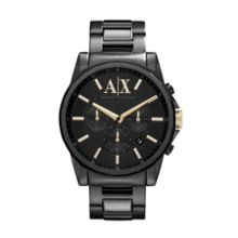 AX2094 Smart black stainless steel mens watch