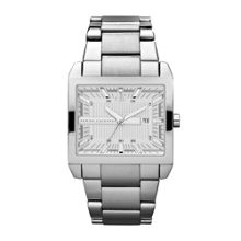 AX2201 SMART silver stainless steel mens watch