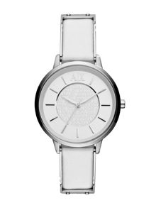AX5300 Smart White Leather Ladies Watch