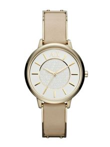 AX5301 Smart Beige Leather Ladies Watch