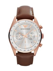 AR5995 Sportivo Brown Leather Mens Watch