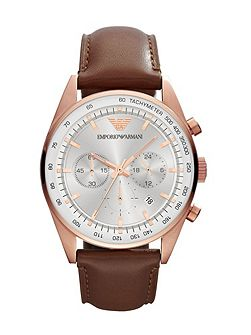 AR5995 Brown Leather Mens Watch